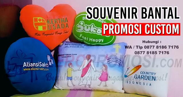Souvenir Bantal Promosi Custom Berkualitas, Jual souvenir bantal, bantal leher, bantal mobil, bantal custom