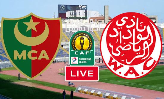 Watch Match Wydad Casablanca vs Mouloudia Alger Live Streaming