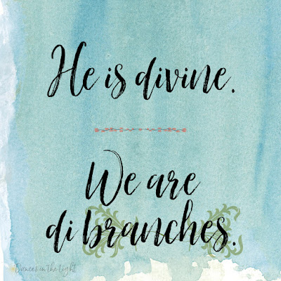 He is divine. We are dibranches