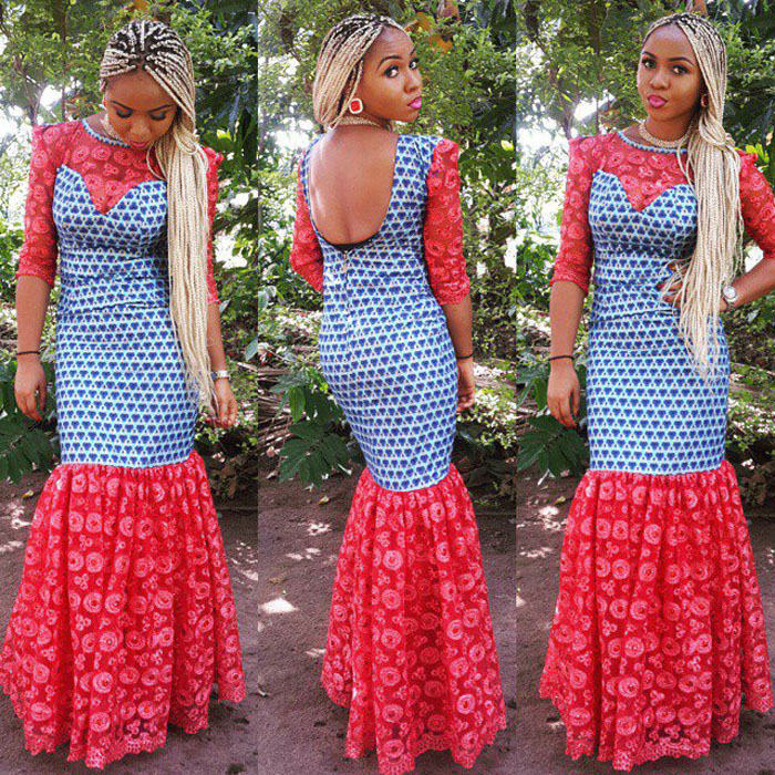 simple open back ankara style