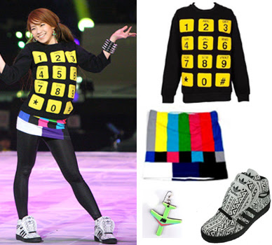 54fbf2699933 Thy also collaborated together and created Adidas originals Jeremy Scott x 2ne1  JS wings. Above is his phone dial sweater ...