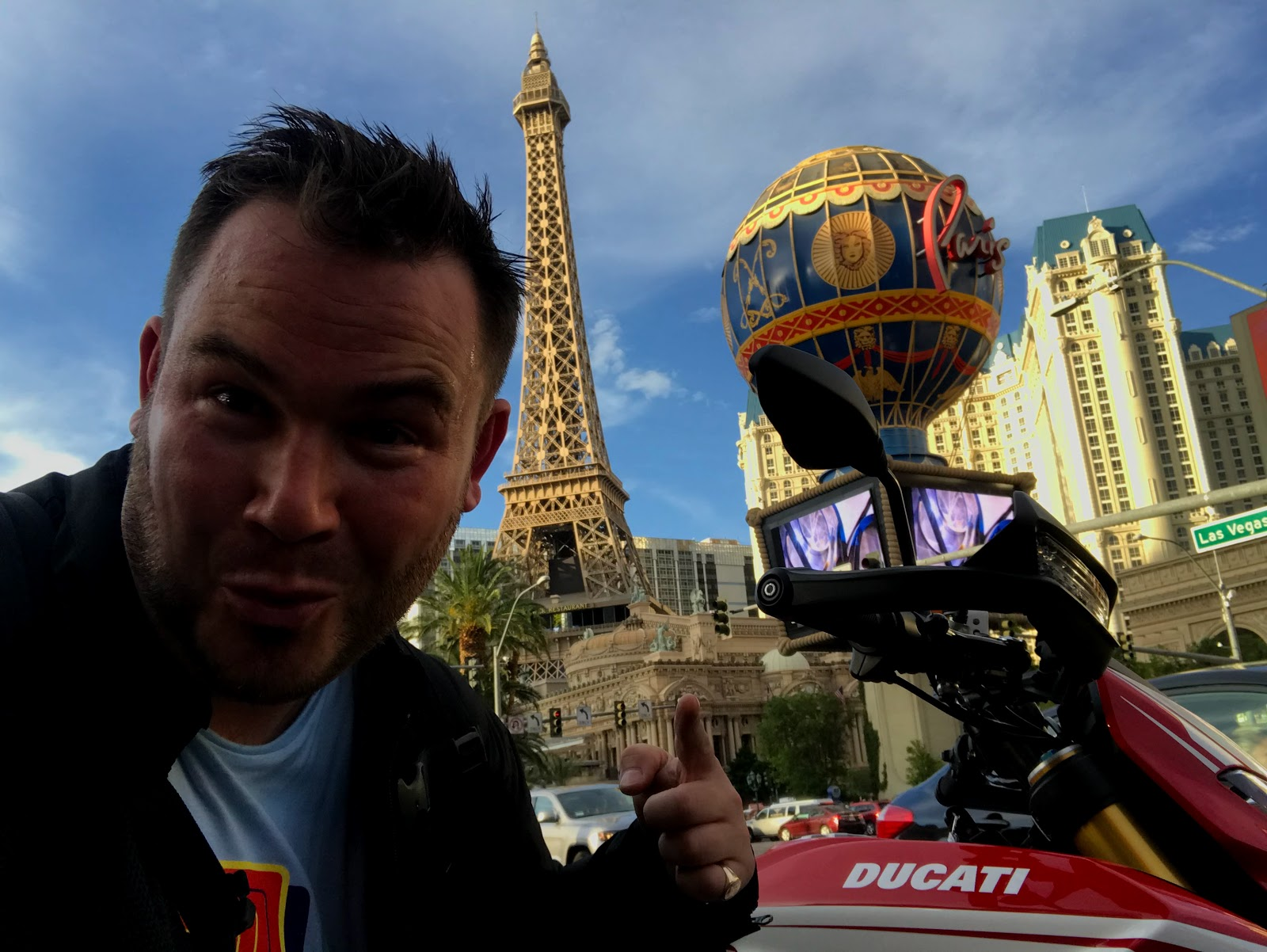 Inman Ambassador Tigh Loughhead rents a Ducati HypermotardSP on the Las Vegas Strip
