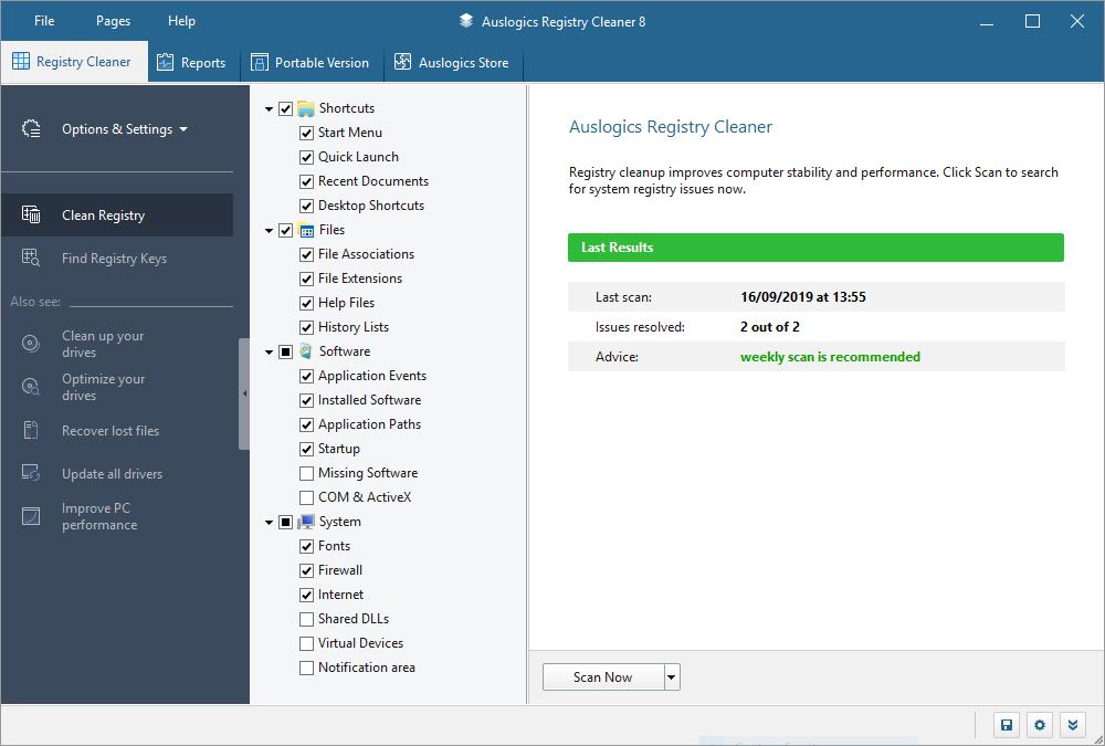 تحميل برناج قوي في تنظيف السجل (الرجستري) Auslogics Registry Cleaner Professional 8.1.0