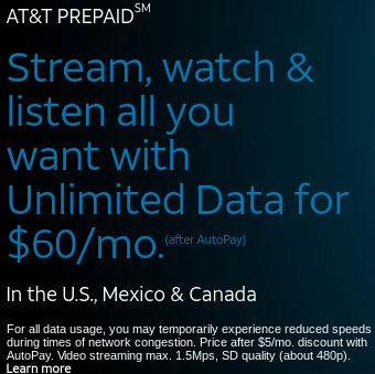 AT&T Prepaid Replaces $65 Plan's 3 Mbps Throttle With