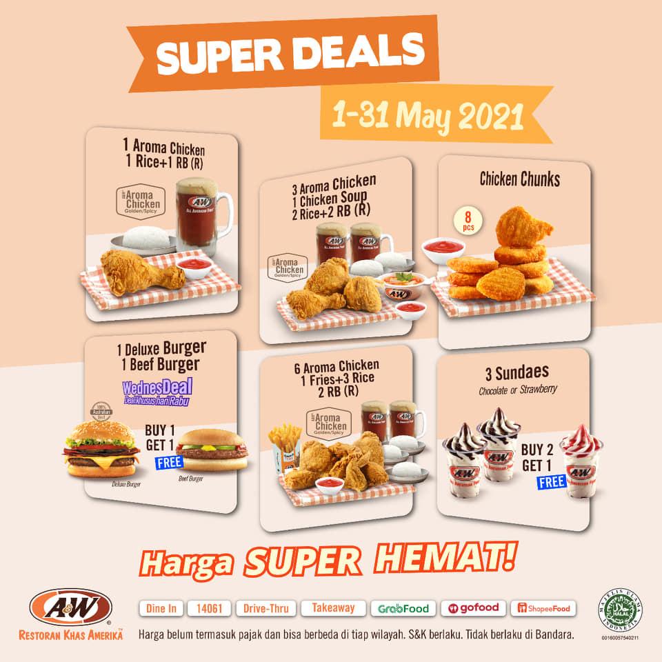 Promo AW Restoran Super Deal 1 - 31 Mei 2021