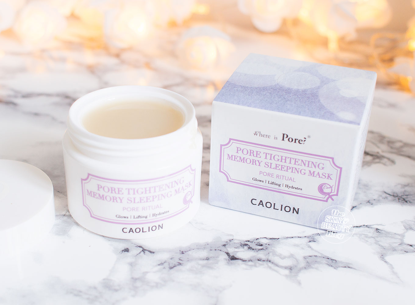 Caolion Pore Tightening Memory Sleeping Mask Review Peach & Lily