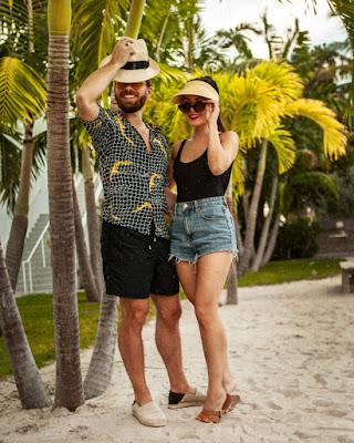 Estilo homem pool party praia moda