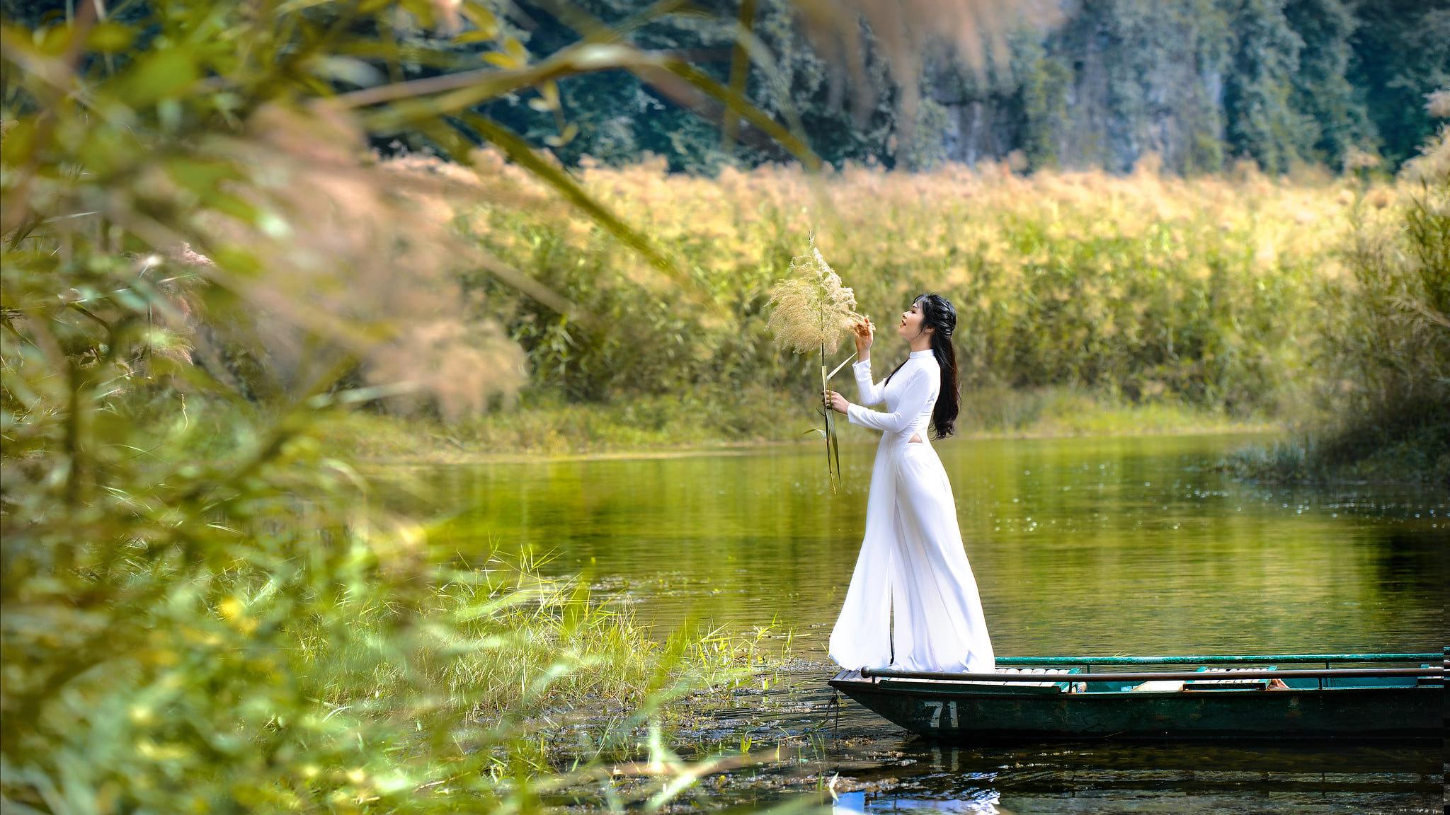 Tuyển tập girl xinh gái đẹp Việt Nam mặc áo dài đẹp mê hồn #57 - 17