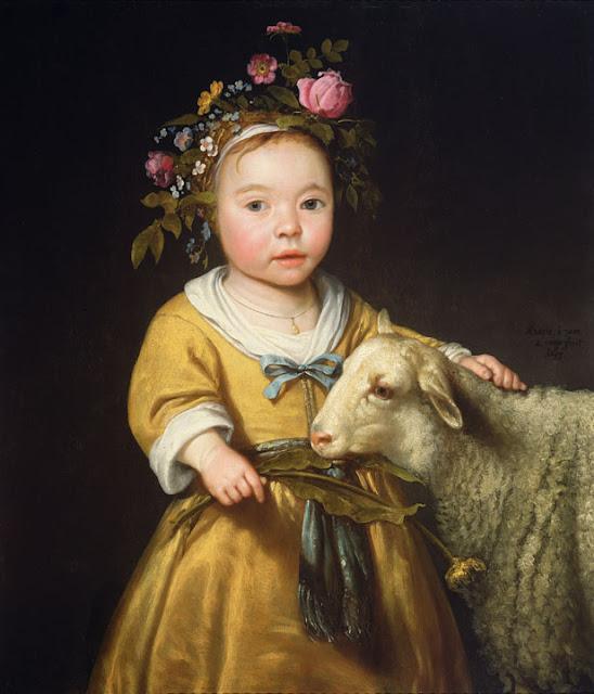 Альберт Кёйп - Девочка с овцой. 1655