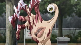 Zakrwawiony Migi po walce z innym pasożytem