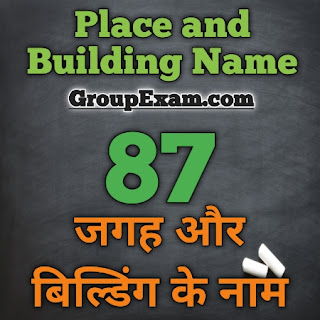 Place and Building Name in Hindi and English