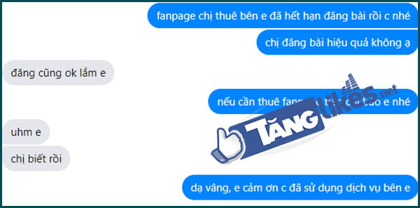dich vu cho thue fanpage