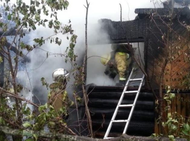 В Дёмском районе сгорел садовый дом, погиб дедушка