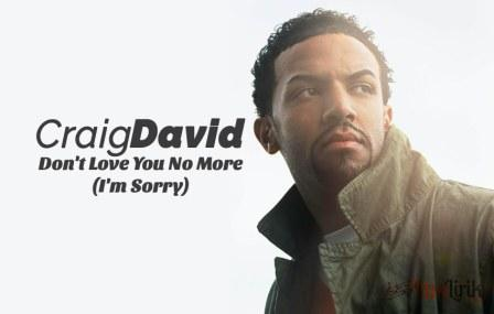 Arti Lirik Don't Love You No More Craig David