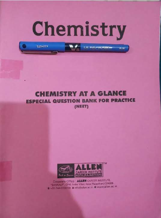 Allen Chemistry At a Glance Especial Question Bank For 2019