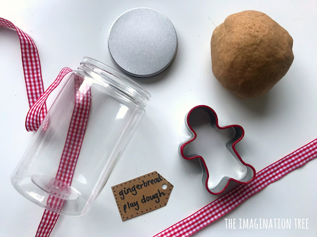 Gingerbread play dough DIY gift