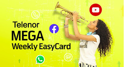 Telenor Mega Weekly  Easy card Rs. 222