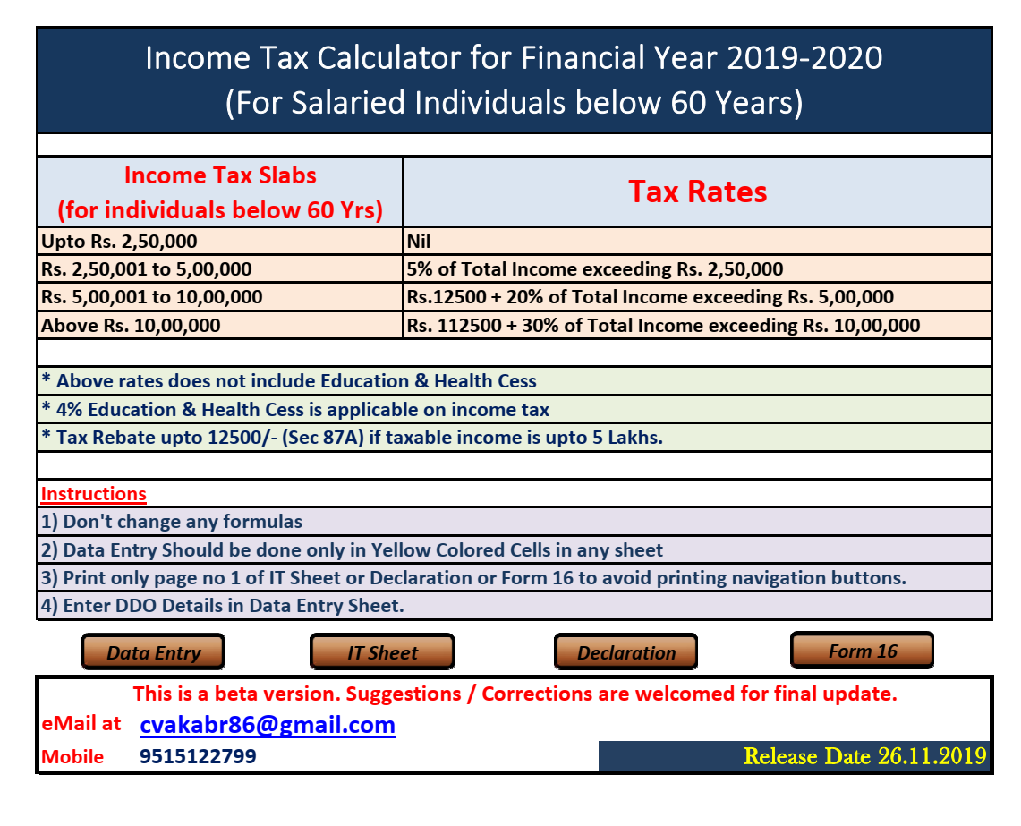 image search result for income tax calculator
