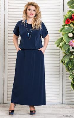 Vestidos azul marino largos