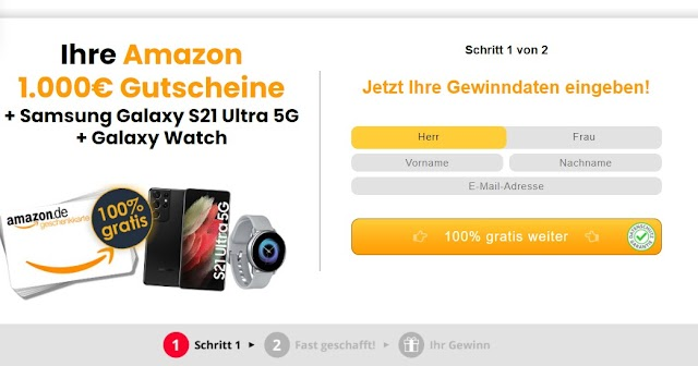 Win Amazon Euro 1000 + Samsung