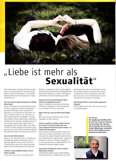 Matthias Moeller 'Liebe ist mehr als Sexualitaet'