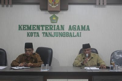 Kemenag Tanjungbalai Gelar Rapat Koordinasi