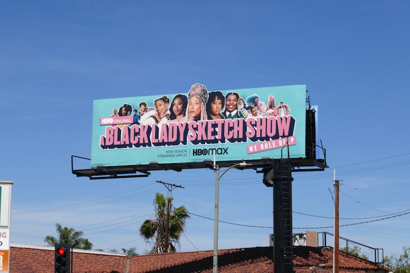 A Black Lady Sketch Show s2 cutout billboard