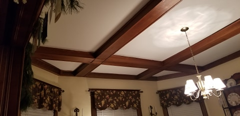 beams ceiling of dining room 3 Elm St Newton NJ Authenticated Sears No 163 of Reuben Talmage