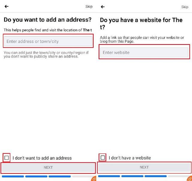 Website or Address