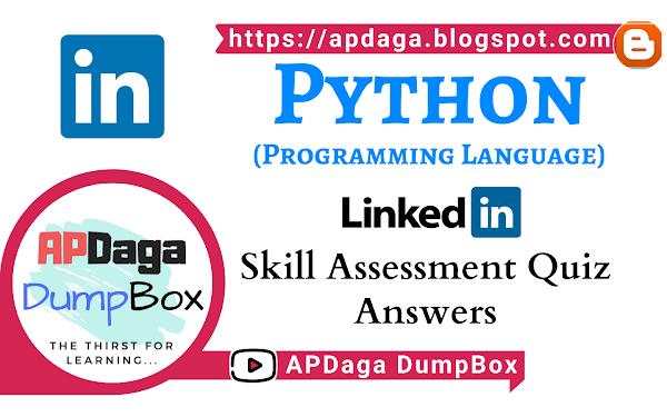 LinkedIn: Python (Programming Language)   Skill Assessment Quiz Solutions