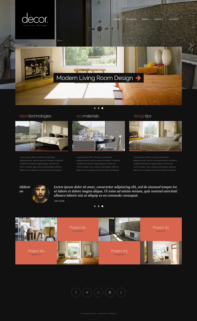 themeforest intereior design theme