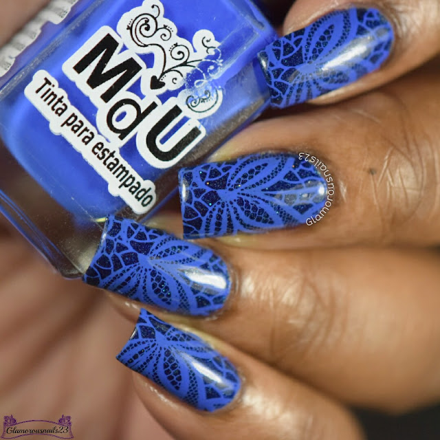 WNAC & Crumpets Nail Tarts February 2017 Day 17 - Flowers/Blue Floral