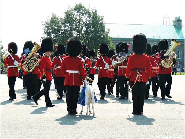 Banda de Música en el Cambio de Guardia de la Ciudadela de Quebec
