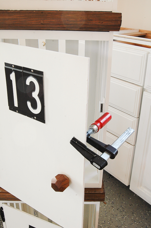 Adding magnetic latches to locker doors