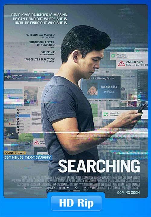 Searching 2018 720p BDRip Hindi Tamil Telugu Eng ESub x264 | 480p 300MB | 100MB HEVC Poster