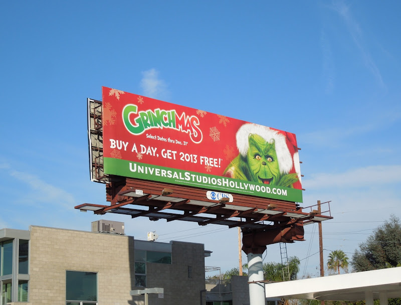 Grinchmas Universal Studios Hollywood 2012 billboard