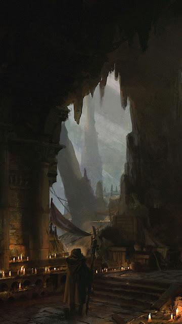 Castelo, Caverna, Mago, Fantasia, Arte