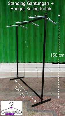 Gantungan gawang Hanger Suling Kotak