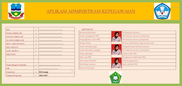 Aplikasi Administrasi Data Pegawai, Guru dan Kepala Sekolah Lengkap