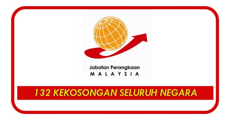 Jawatan Kosong di Jabatan Perangkaan Malaysia - 132 Kekosongan Seluruh Malaysia