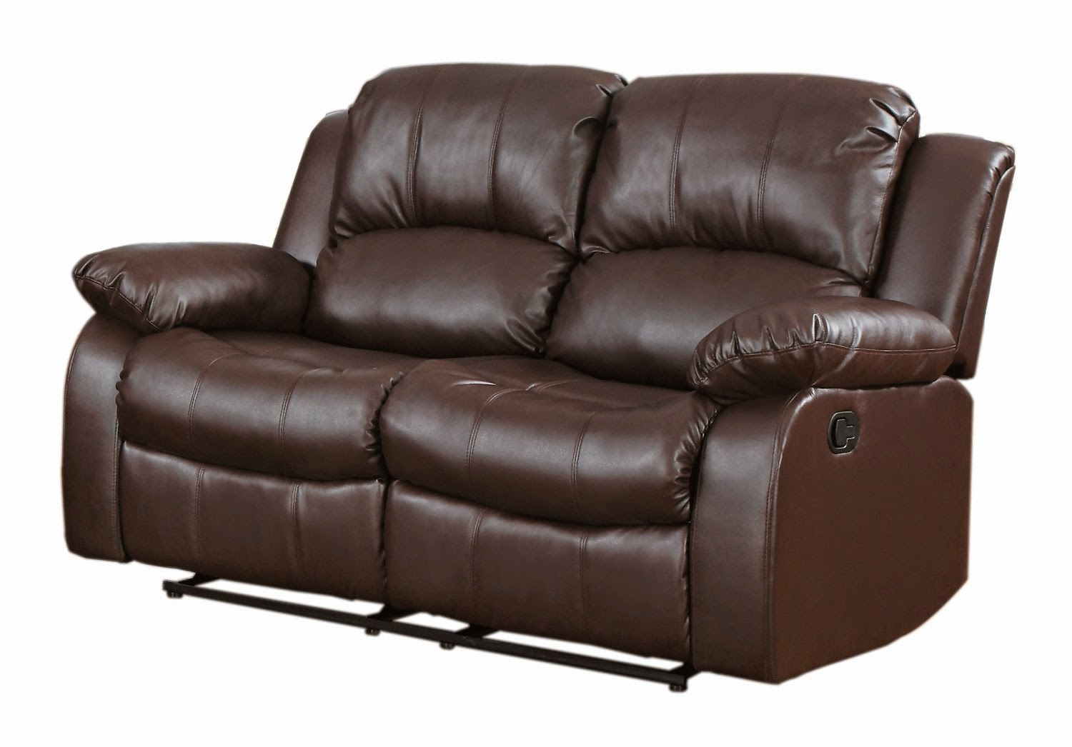 Brown Leather Sofa Recliner Stores Glasgow Couch And Loveseat