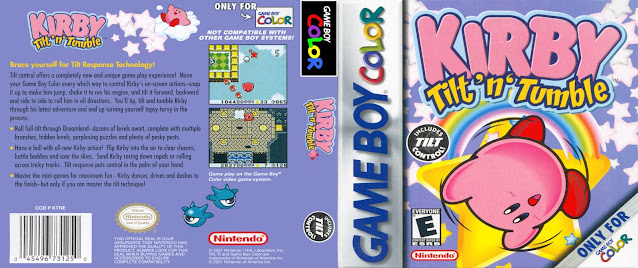 game boy color kirby tilt n tumble cover