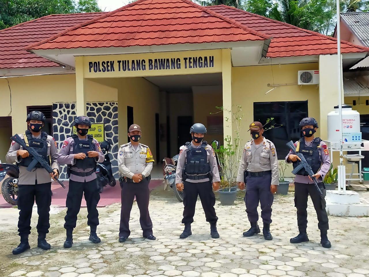 Kompi 3 B Pelopor Lakukan Patroli Kamandahan Di Wilayah Hukum Tulang Bawang