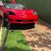 Carro de luxo é apreendido após motorista sem habilitação bater contra poste em Londrina, diz PM
