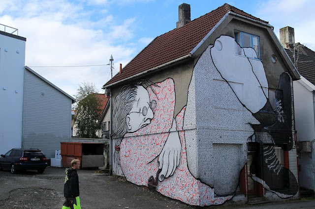 While you discovered a massive piece a few days ago, Ella & Pitr are still in Norway for the excellent Nuart Street Art Festival.