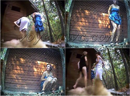 PissHunters 8449-8464 (Outdoor voyeur peeing. Voyeur public toilet spy cam)