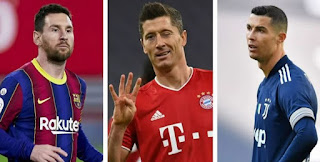 Messi drops in European Golden Boot race behind Ronaldo and Lewandowski