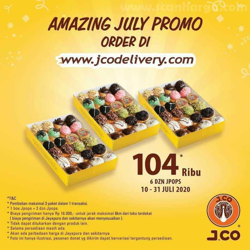 JCO Promo 6 lusin J.Pops seharga 104ribu Periode 10 - 31 Juli 2020