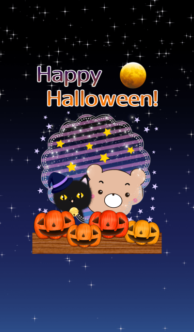 Theme of Halloween pretty Brown bear