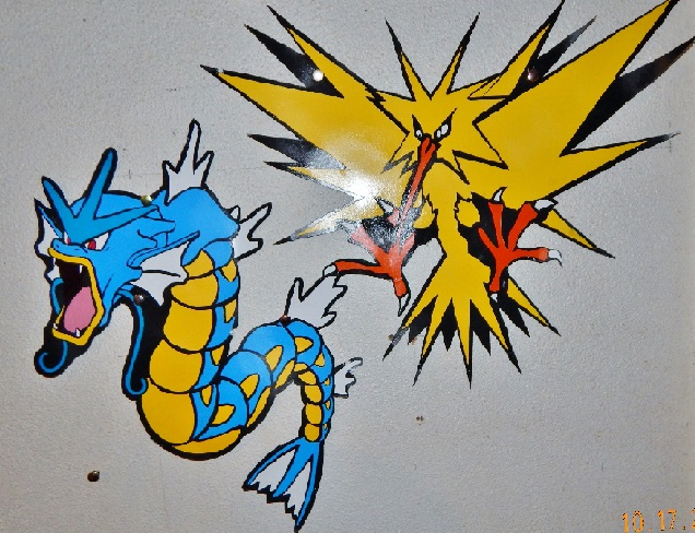 Pokemon Gyarados and Zapdos